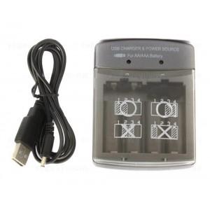 Cargador USB de Baterías AA - AAA