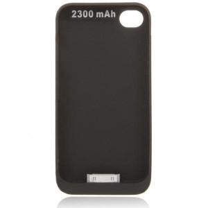 Funda cargadora para iPhone 4, 4S, de 2300mAh