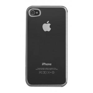 Carcasa Protectora Cristal Silicona para iPhone 4, 4S